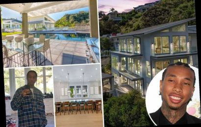 Inside Tyga's $12.8 million Bel-Air mansion featuring 70-foot swimming pool, home gym and massive collection of sneakers – The Sun