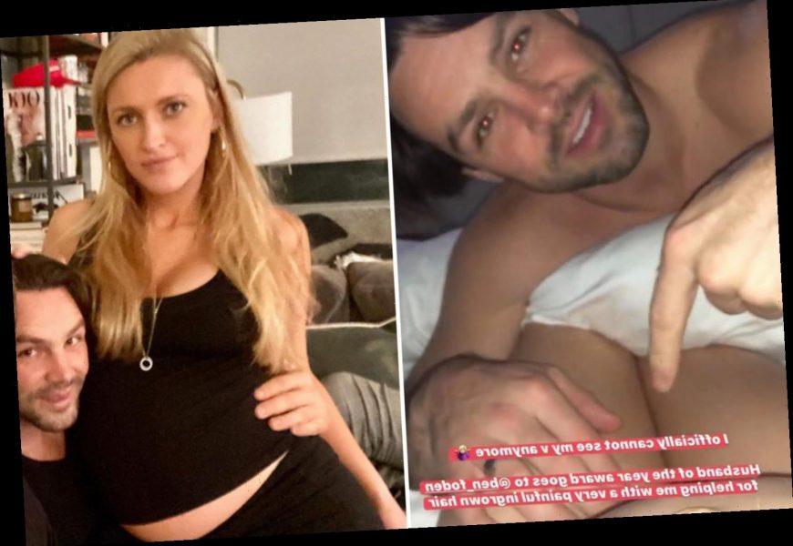 Ben Foden helps pregnant wife Jackie pluck ingrowing hair from very intimate area in bizarre video – The Sun