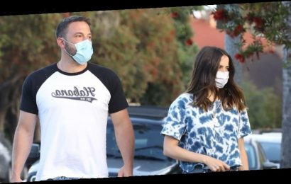 Ben Affleck Takes Evening Walk With Ana de Armas & Their Pups in LA