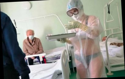 'Hot' nurse disciplined for wearing bra and panties under see-through PPE gown