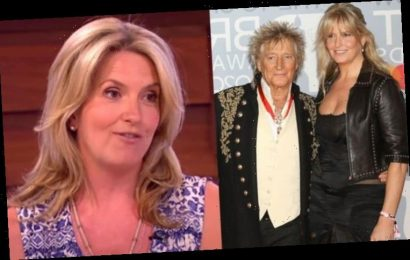 Rod Stewart's wife Penny Lancaster admits 'he feels he's had retirement forced on him'
