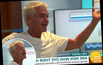 This Morning's Phillip Schofield invades GMB studio live on air during debate about going grey