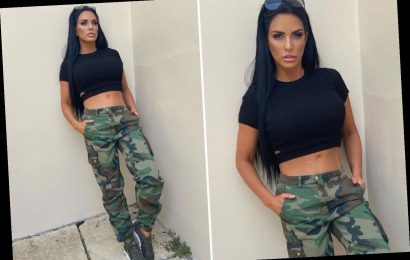 Katie Price shows off her flat stomach and says she's 'ready to combat the fitness' this week – The Sun