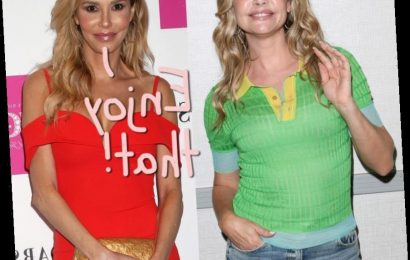 Brandi Glanville Tweets Photo Of Herself Appearing To Kiss <i>RHOBH</i> Star Denise Richards…