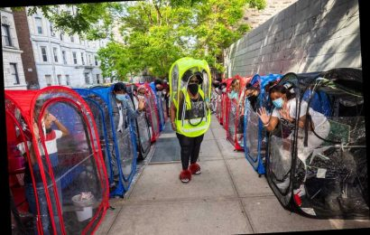 Woman hosts pandemic parties in tricked-out plastic pods