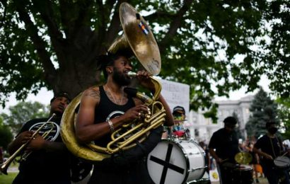 Brothers of Brass set Denver's George Floyd protests to music
