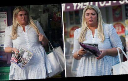Gemma Collins looks glum after explosive James Argent split as she runs errands and picks up OK! magazine