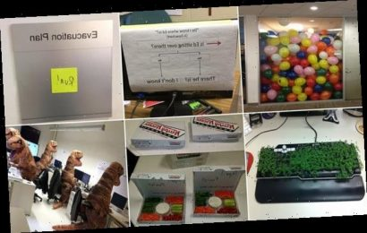 Social media users share pranks played on their work colleagues