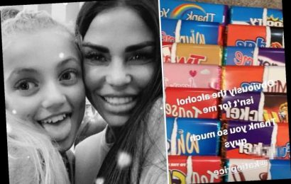 Katie Price denies buying daughter Princess, 13, rude chocolate bars called 'f**ker, t**t and oral' for her birthday