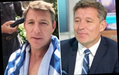 Ben Shephard says his wife 'straddles him' when cutting his hair and it's 'more fun' than going to his regular barber