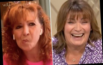 Lorraine Kelly gets the giggles after she tells Bonnie Langford how 'bad' Cats was – despite her niece being in it