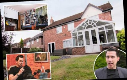Inside Russell Kane's Cheshire mansion with home cinema and man cave shed in the garden