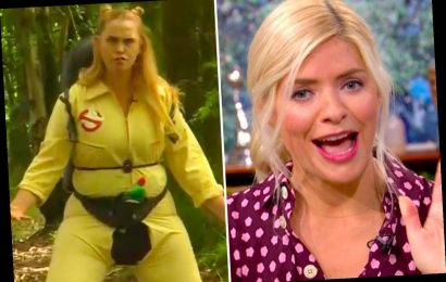 This Morning viewers in stitches as Holly Willoughby points out Josie Gibson's ripped crotch on her Ghostbusters outfit