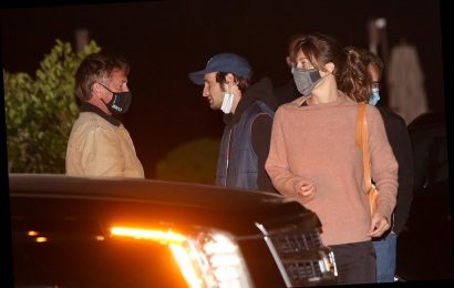 Sean Penn Has Dinner with Girlfriend Leila George and Son Hopper in L.A.