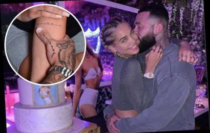 Jasmine Sanders and boyfriend Anthony Rhoades get matching tattoos