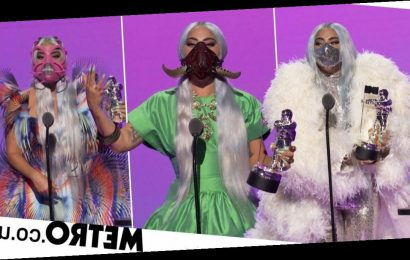 Lady Gaga's MTV VMAs outfit changes all came with matching face masks
