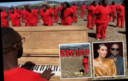 Kim Kardashian shares pics from husband Kanye West's Sunday Service at Wyoming ranch as she fights to save marriage