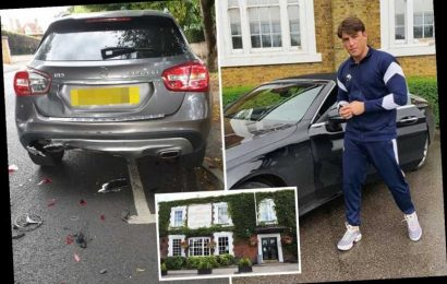 Love Island's Jack Fincham 'crashes into the back of a parked car after being banned from his local pub'