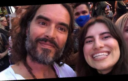 Russell Brand 'flouts' coronavirus social distancing rules following rule of six