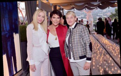 Ellen DeGeneres Joked to Kris Jenner That Kourtney Kardashian Only Filmed 'KUWTK' Again for Money