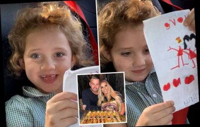 Katie Price's daughter Bunny, 6, tells her new man Carl 'I love you' after son Harvey said he wants him to be his 'dad'