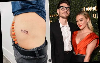 Hilary Duff's husband, Matthew Koma, gets tattoo of her name on his butt
