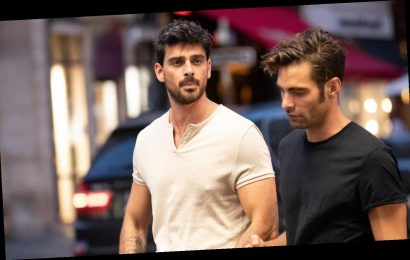365 DNI's Michele Morrone Hangs Out with Model Jon Kortajarena in Paris (Photos)