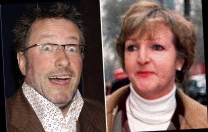 Drunken comedian Rowland Rivron exposed himself to Dame Penelope Keith at Christmas party