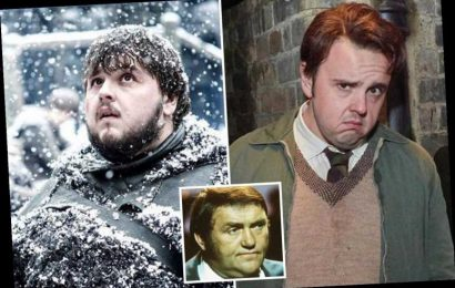 Game of Thrones' John Bradley looks unrecognisable as he transforms into late comedian Les Dawson for new drama