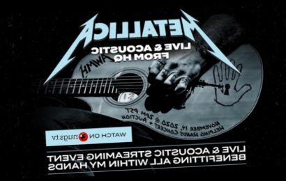 Metallica to Play Pay-Per-View Acoustic Concert for Charity