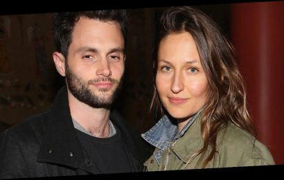 Domino Kirke shares adorable 1st photo of Penn Badgley with their baby boy