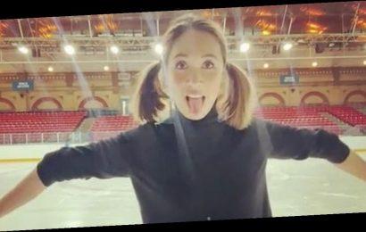 Dancing On Ice's Myleene Klass bends elbows wrong way in training lift