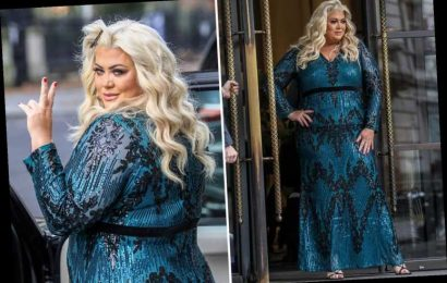 Gemma Collins shows off her incredible curves in skintight sequin gown as she steps out in London
