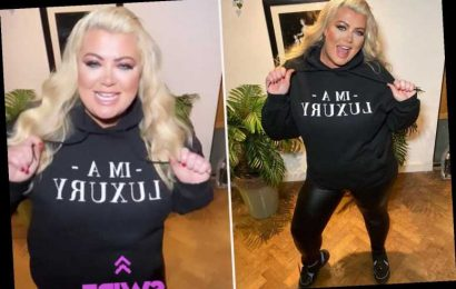 Gemma Collins shows off her 3st weight loss in skin-tight leather trousers