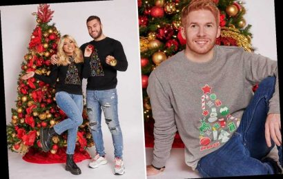 Strictly's Neil Jones joins Love Island's Paige Turley and Finley Tapp as they launch Christmas charity jumpers
