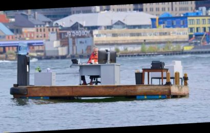 N.Y.C's 'Socially Distanced Office' on the East River Went Viral — Here's How the Stunt Happened