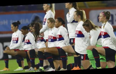 """At first game in 8.5 months, U.S. women's national soccer team shows support for Black Lives Matter to """"affirm human decency"""""""