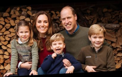 Prince William and Kate Middleton release gorgeous Christmas card with children George, Charlotte and Louis
