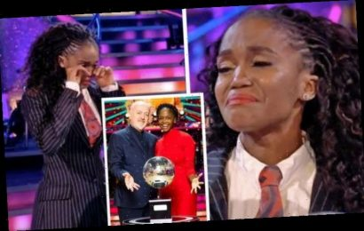 Oti Mabuse in tears as she makes Strictly history winning with Bill Bailey