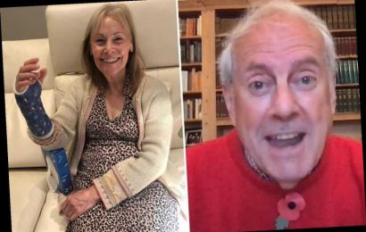 Gyles Brandreth reveals he's accidentally broken wife's wrist after falling into her while stargazing