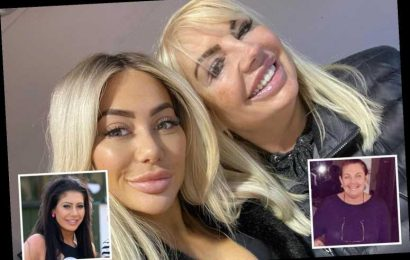 Chloe Ferry poses with her lookalike mum as they reunite for Christmas