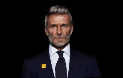 David Beckham is aged 30 years — as he imagines announcing an end to malaria