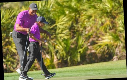 Tiger Woods Proudly Looks on as Son Charlie, 11, Drains Impressive Shot at PNC Championship