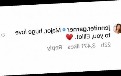 Jennifer Garner Shows Support to Juno Costar Elliot Page: 'Huge Love to You'