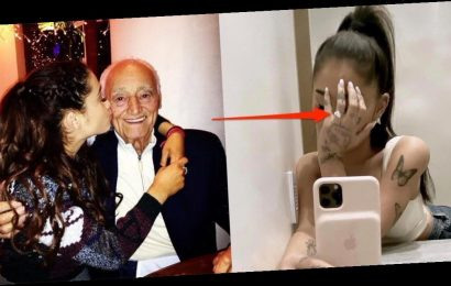 Fans think Ariana Grande's new engagement ring has a sweet nod to her late grandpa