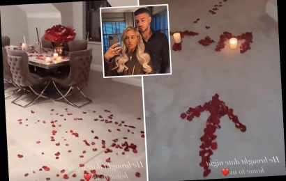 Inside Molly-Mae and Tommy Fury's 18 month anniversary as he covers flat with rose petals to celebrate on date night