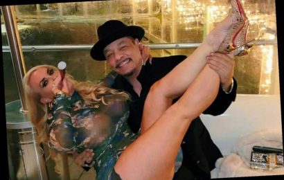 Ice-T and wife Coco Austin celebrate 20th wedding anniversary as she shows off nipples in completely sheer dress