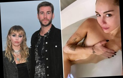 Miley Cyrus goes completely naked as she shares selfie from her bathtub after she shades ex-husband Liam Hemsworth