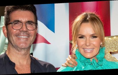 Amanda Holden shares hilarious 50th birthday present from Simon Cowell as he gifts her zimmer frame
