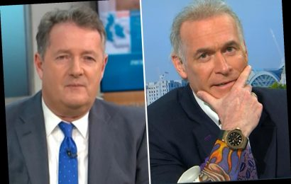 GMB's Dr Hilary Jones pokes fun at Piers Morgan as he shows off 'new tattoo' after 'intimate piercing' clanger